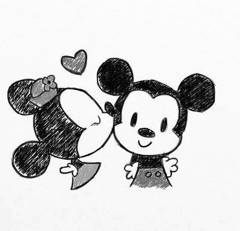 472x454 Mickey And Minnie Mouse Drawing! Mickey Amp Minnie