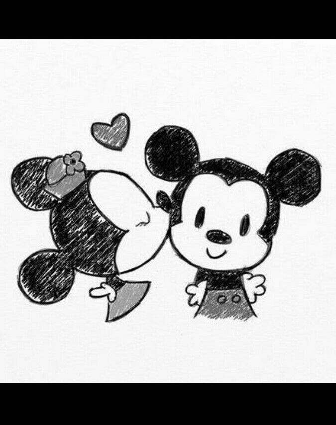 Mickey And Minnie Mouse Drawing