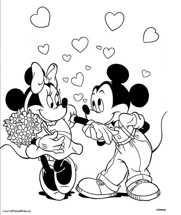 615x731 Mickey And Minnie Mouse Coloring Pages Printables Page