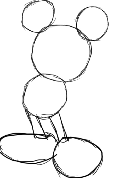 428x614 How To Draw Mickey Mouse