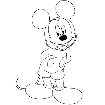 400x400 How To Draw Mickey Mouse 8 Steps