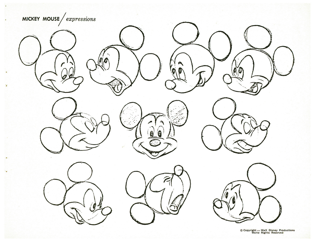 1100x850 Michael Sporn Animation Splog How To Draw Mickey