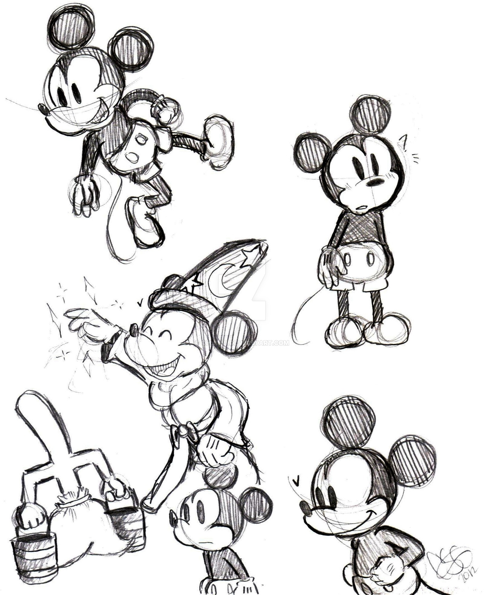 1600x1964 Mickey Drawings By Celebi9