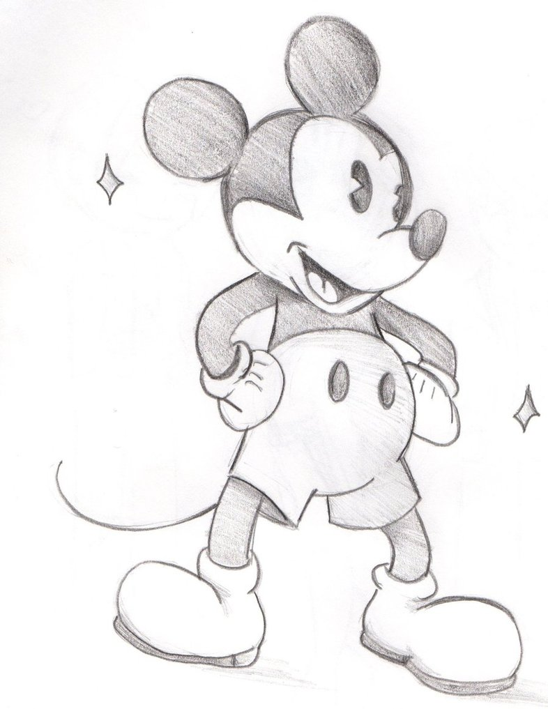 786x1017 Sketch old Style Mickey Mouse By Whispershipwrex