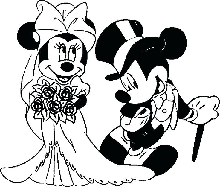 736x625 Mickey Mouse Kissing Minnie Mouse Drawing