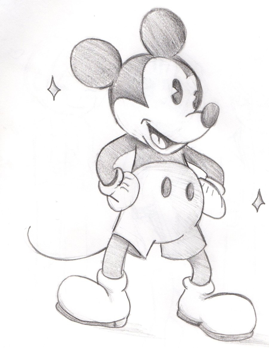 900x1165 Mickey Mouse Realistic Sketch Pencil Sketches Of Mickey And Minnie