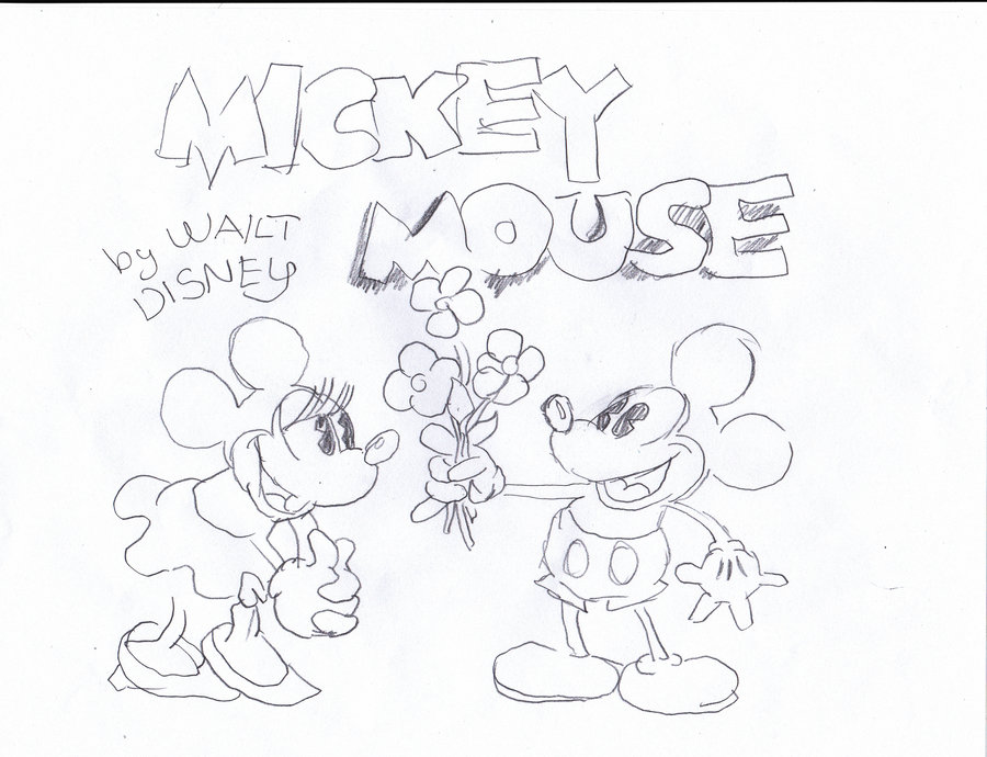 900x690 Minnie Mouse and Mickey Mouse first comic book by