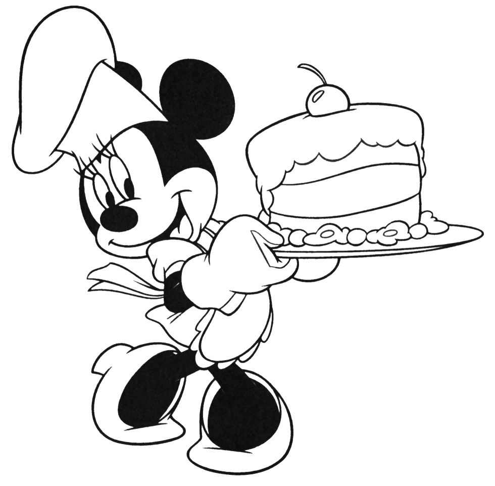 980x962 Mouse And Minnie Mouse Cooking Coloring Pages