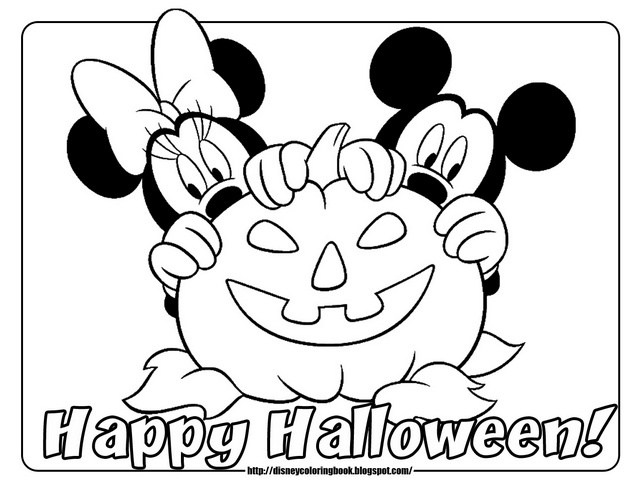 640x495 halloween coloring pages mickey mouse minnie mouse pumpkin