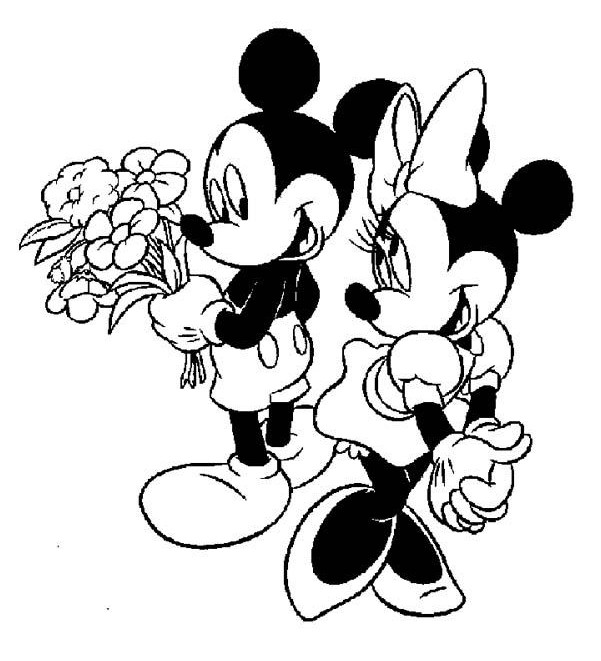 601x661 Mickey And Minnie Mouse Clipart Black And White