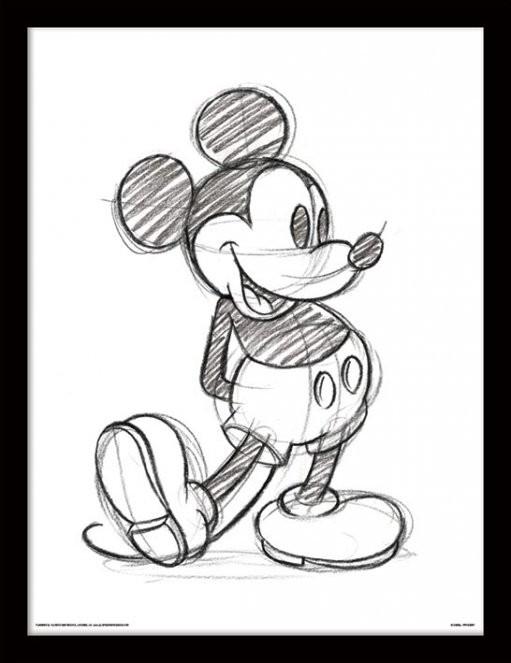 511x663 Mickey Mouse Single Sketch Frame Mini Eden