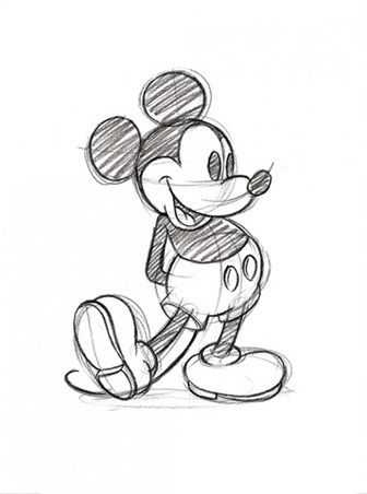336x452 Mickey Mouse Sketch Walt Disney Print Mickey Mouse, Sketches