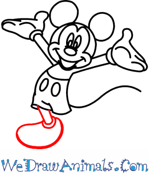 300x350 How To Draw Mickey Mouse