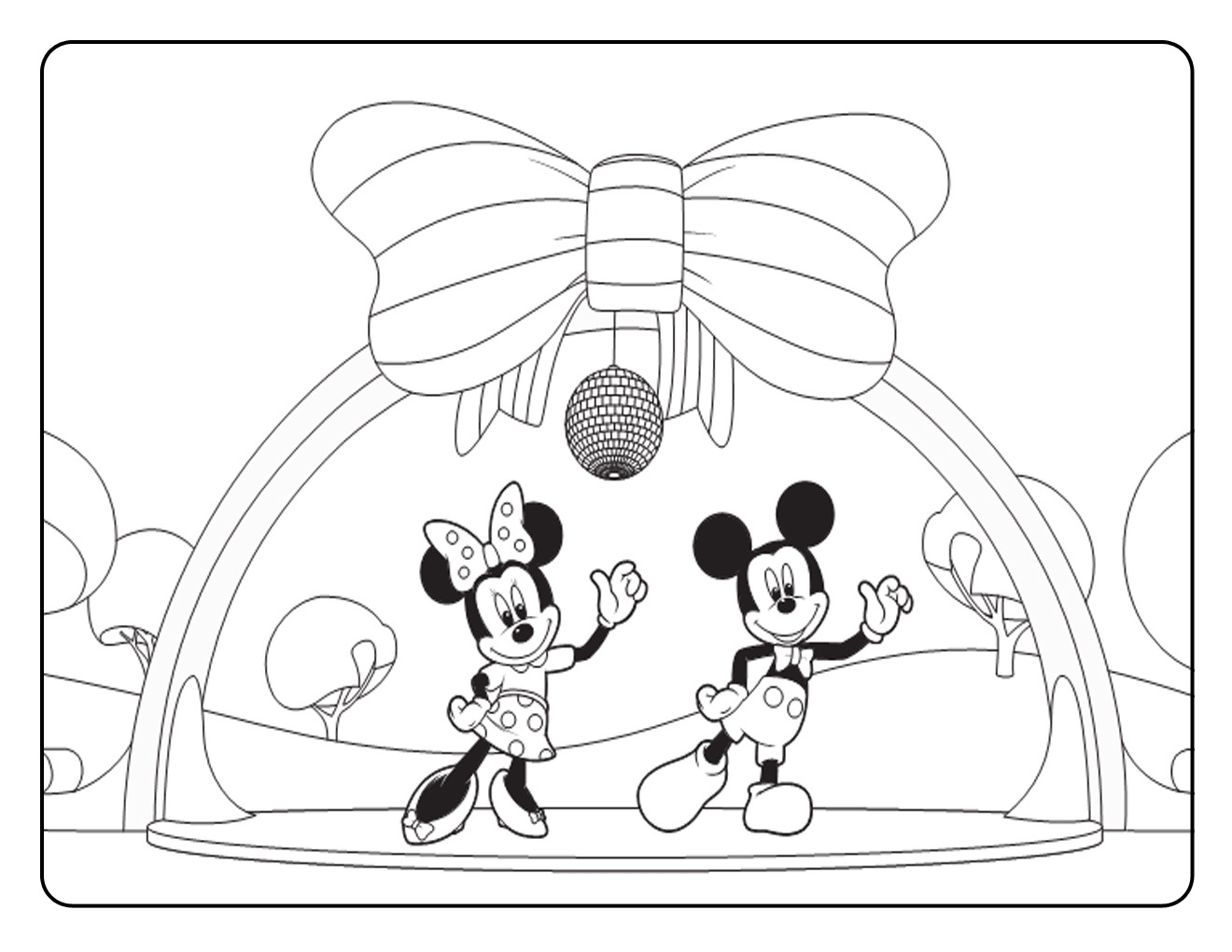 1320x1020 Mickey Mouse Clubhouse Coloring Pages Printable For Sweet Draw