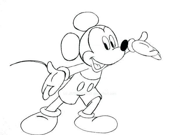 618x464 Mickey Mouse Outline Printable Images Vector Mickey Mouse Outline