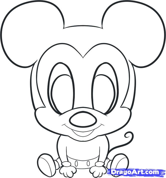664x711 Drawn amd mickey mouse