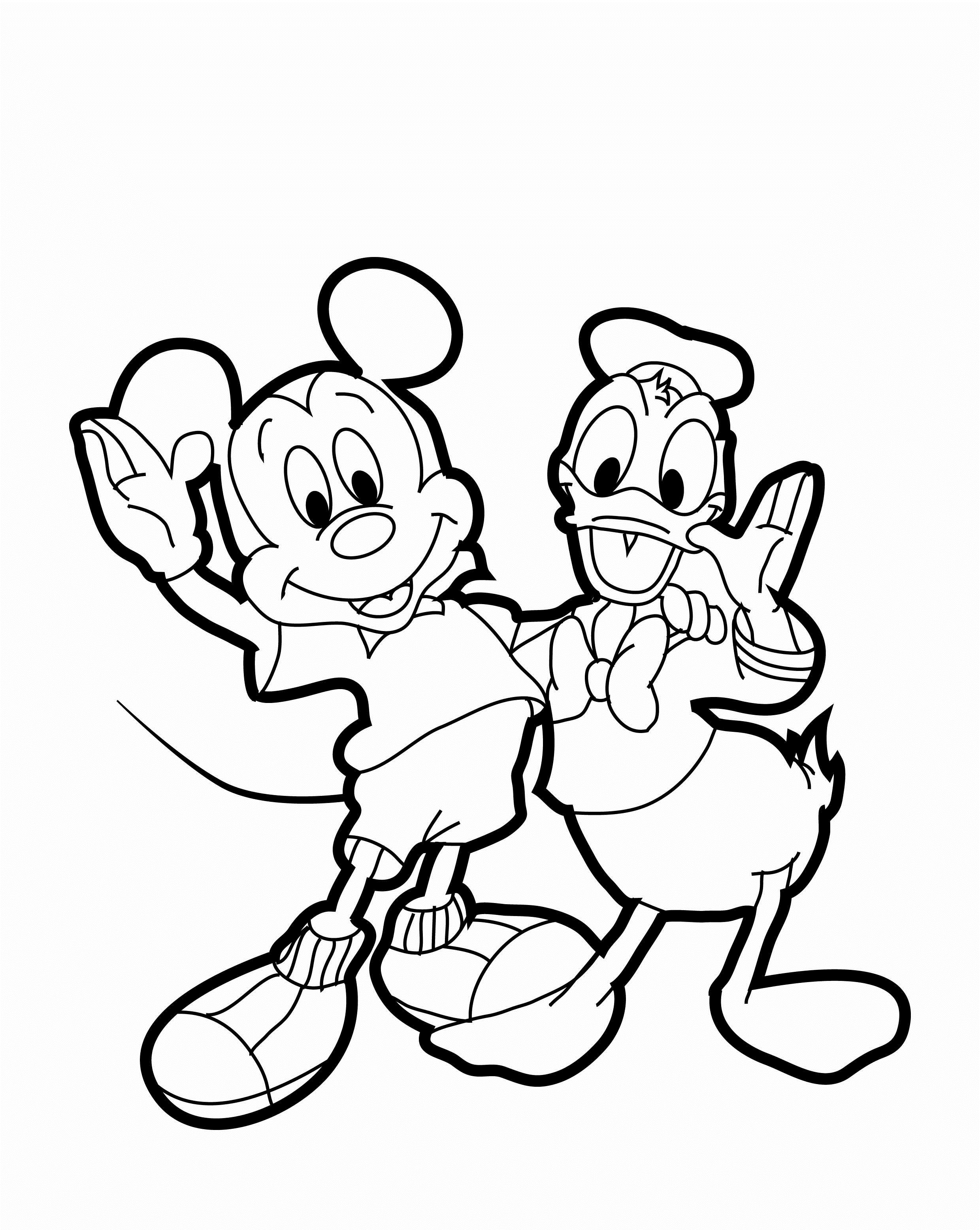 2480x3111 Drawn donald duck Drawing Mickey Mouse