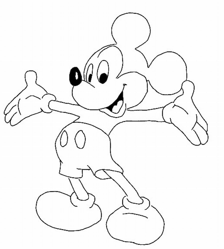 898x1000 Coloring Pages Of Mickey Mouse