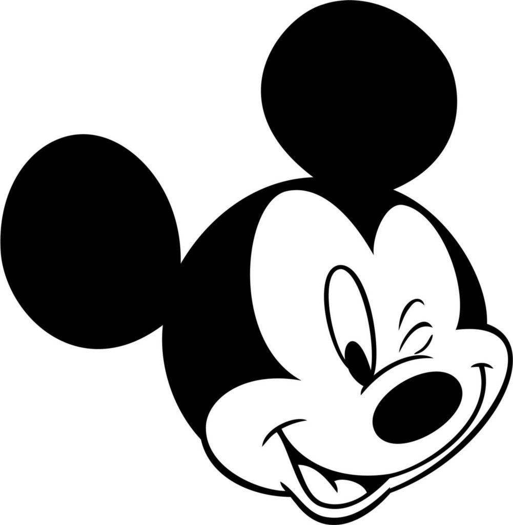 1001x1024 Draw Mickey Mouse Head