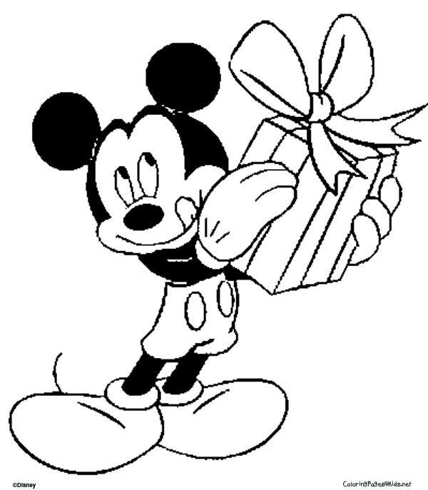 Christmas Colouring Pages Mickey Mouse Drawing Step By At GetDrawings