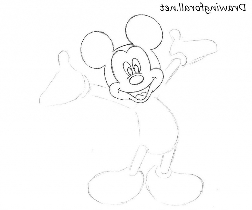1024x852 Easy Drawing Of Mickey Mouse