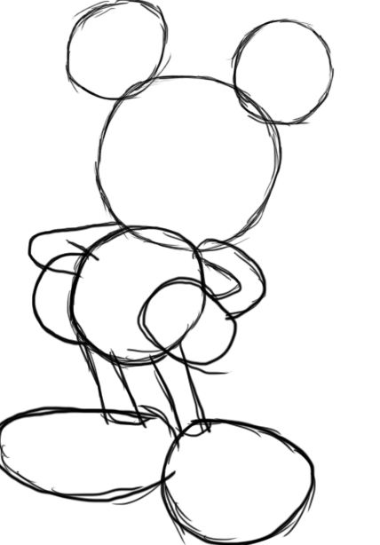 Mickey Mouse Ears Drawing