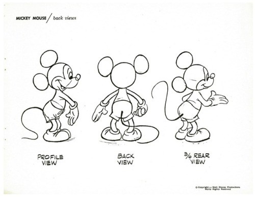 500x387 How To Draw Mickey Mouse Thinking Animation