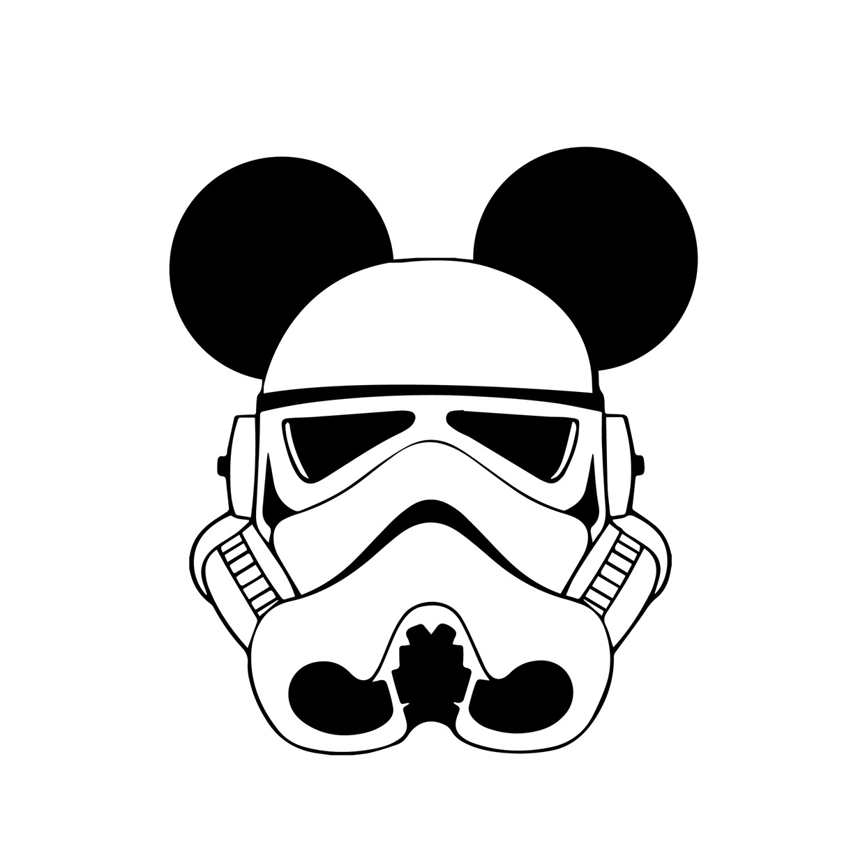 1240x1240 Tiefighters Star Wars Characters With Mickey Mouse Ears