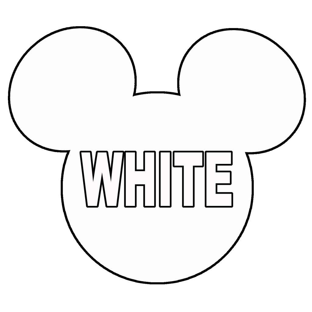 1024x1024 Mickey Mouse Head Coloring Pages Coloring Page For Kids