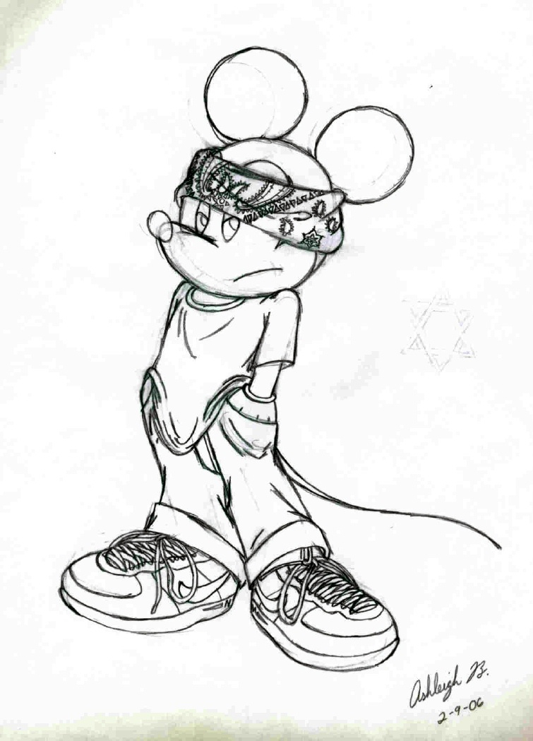 755x1049 Wallpaper Gangsta Draw Drawing Gangsta Mickey Mouse (Request)
