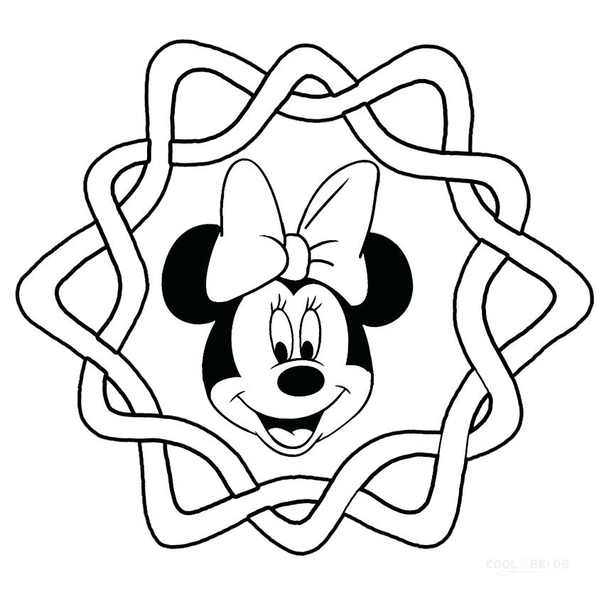 850x850 Mickey Mouse Face Coloring Pages