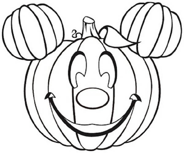 600x499 Pumpkins Mickey Mouse Pumpkins Coloring Page