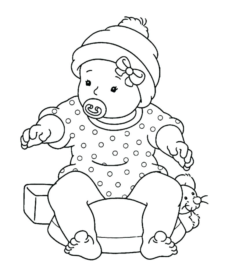 789x960 Mickey Mouse Baby Coloring Pages