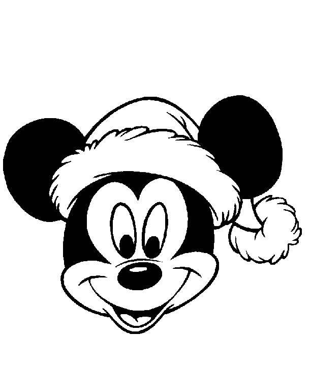 610x766 Christmas Mickey Mouse Face Coloring Pages