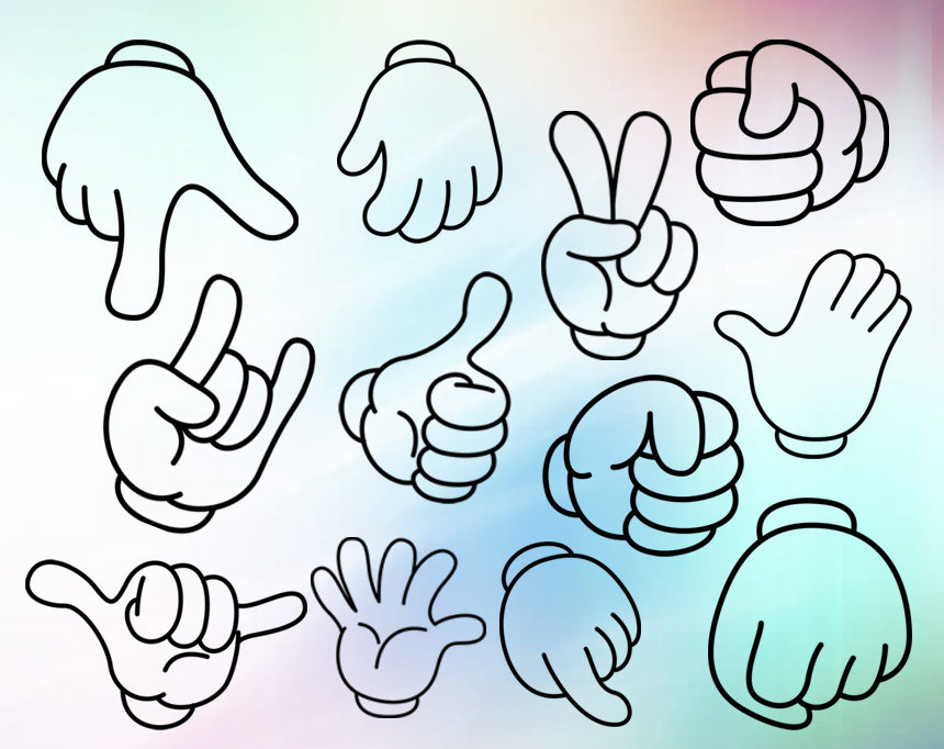 860x682 Mickey Hands Svg, Mickey Hands Clipart, Mickey Mouse Hands Svg