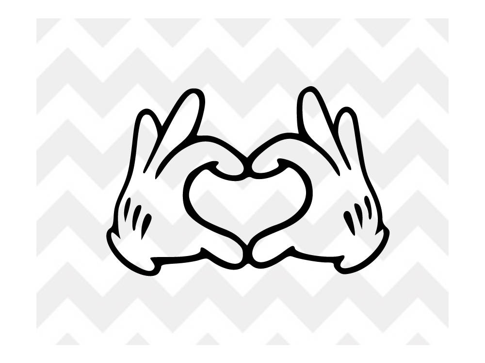 1000x750 Mickey Heart Hands Svg Mickey Mouse Disney Svg Disney Svg