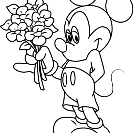 268x268 Mickey Mouse Hand Coloring Page Archives