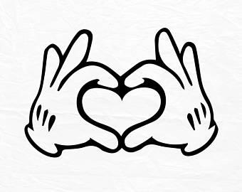 340x270 Mickey Hand Heart Etsy