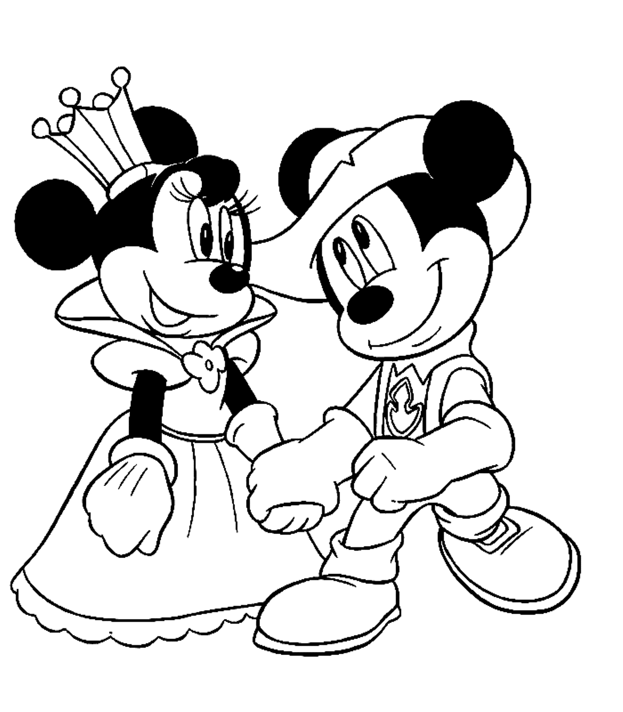 1246x1424 Minnie And Mickey Mouse Drawing Mickey Mouse And Minnie Mouse