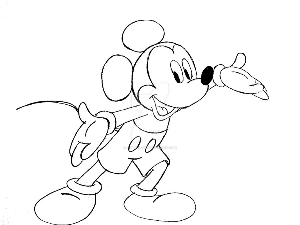 1032x774 Another Mickey Mouse Drawing By Jimenopolix