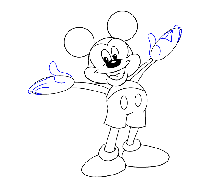 678x600 How To Draw Mickey Mouse Easy Drawing Guides