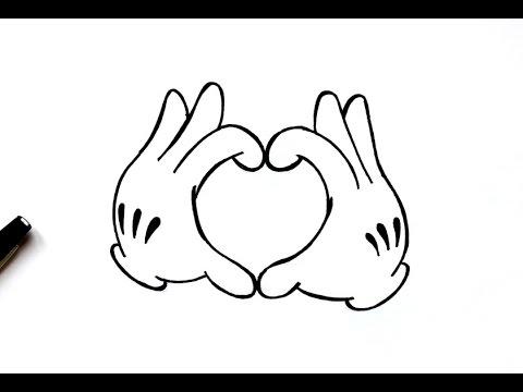 480x360 Dessin Mains De Mickey En Coeur
