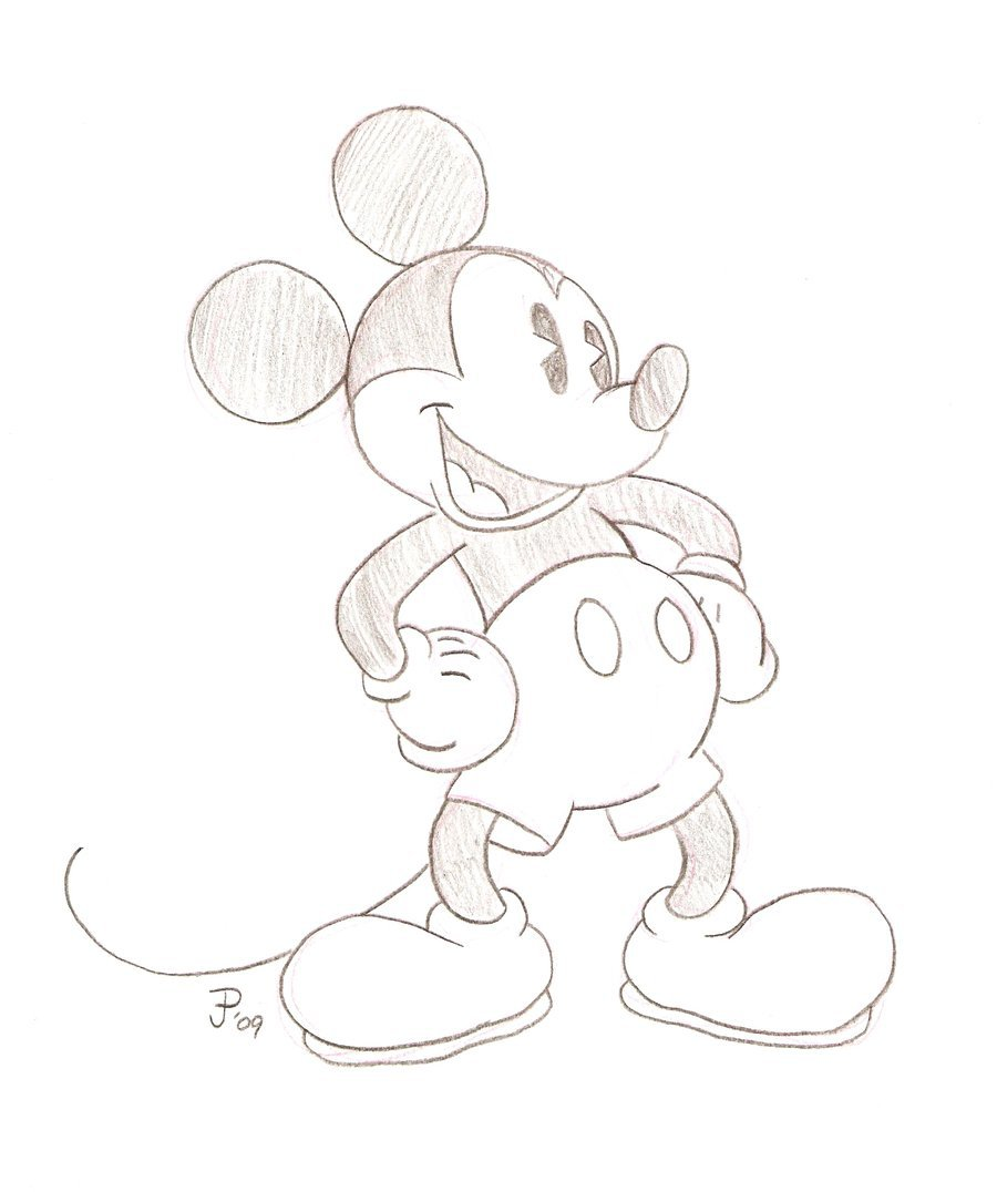 900x1076 Mickey Mouse Sketch By Mickeyminnie