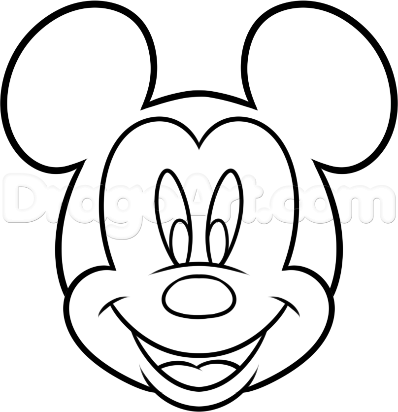 808x836 Pictures Drawing Of Mickey Mouse,
