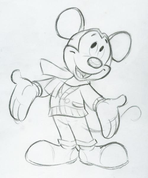 500x603 Disney Mickey Mouse Fun Happy Birthday Sketch Walt Disney How