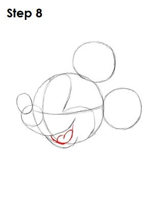 300x388 How To Draw Mickey Mouse