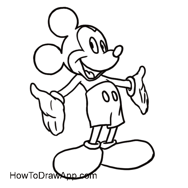 600x600 Learn How To Draw Mickey Mouse Step By Step, Easy Drawing