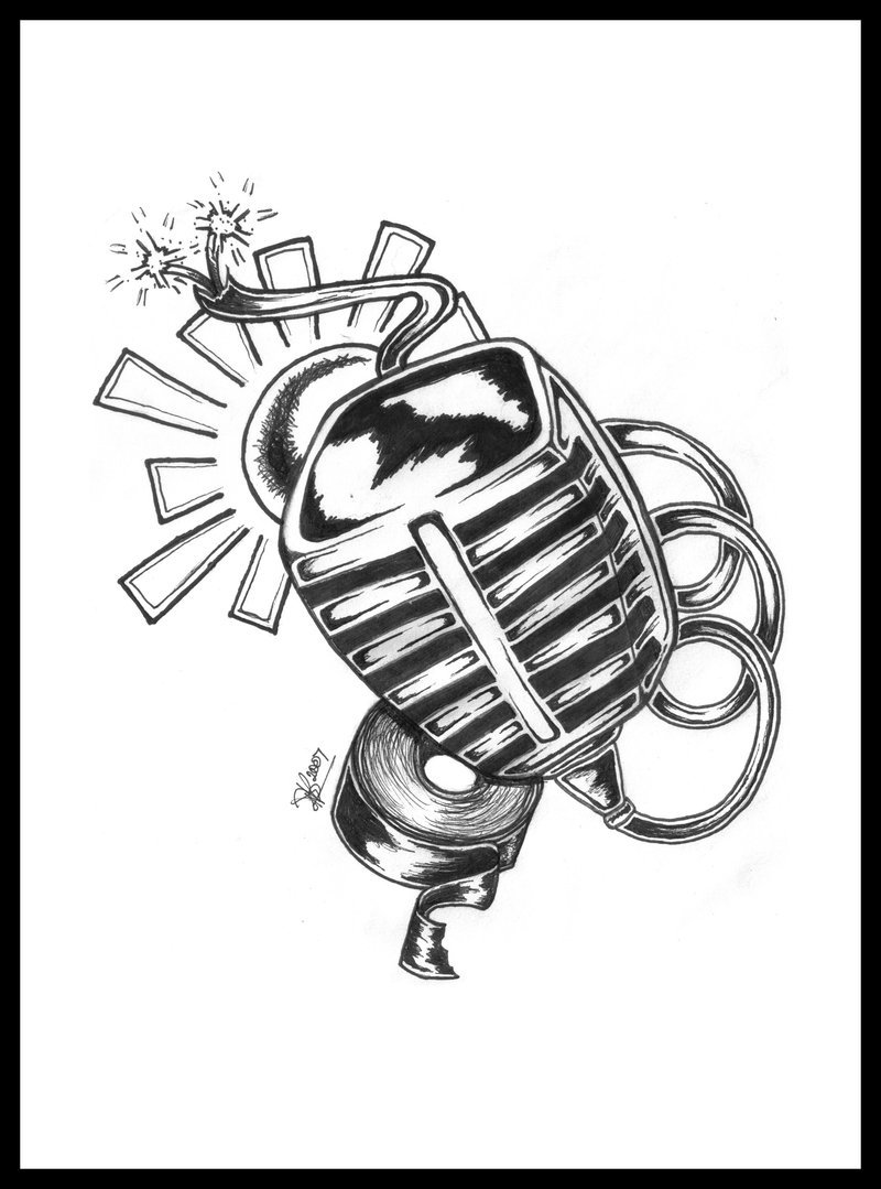 microphone drawing at getdrawings com