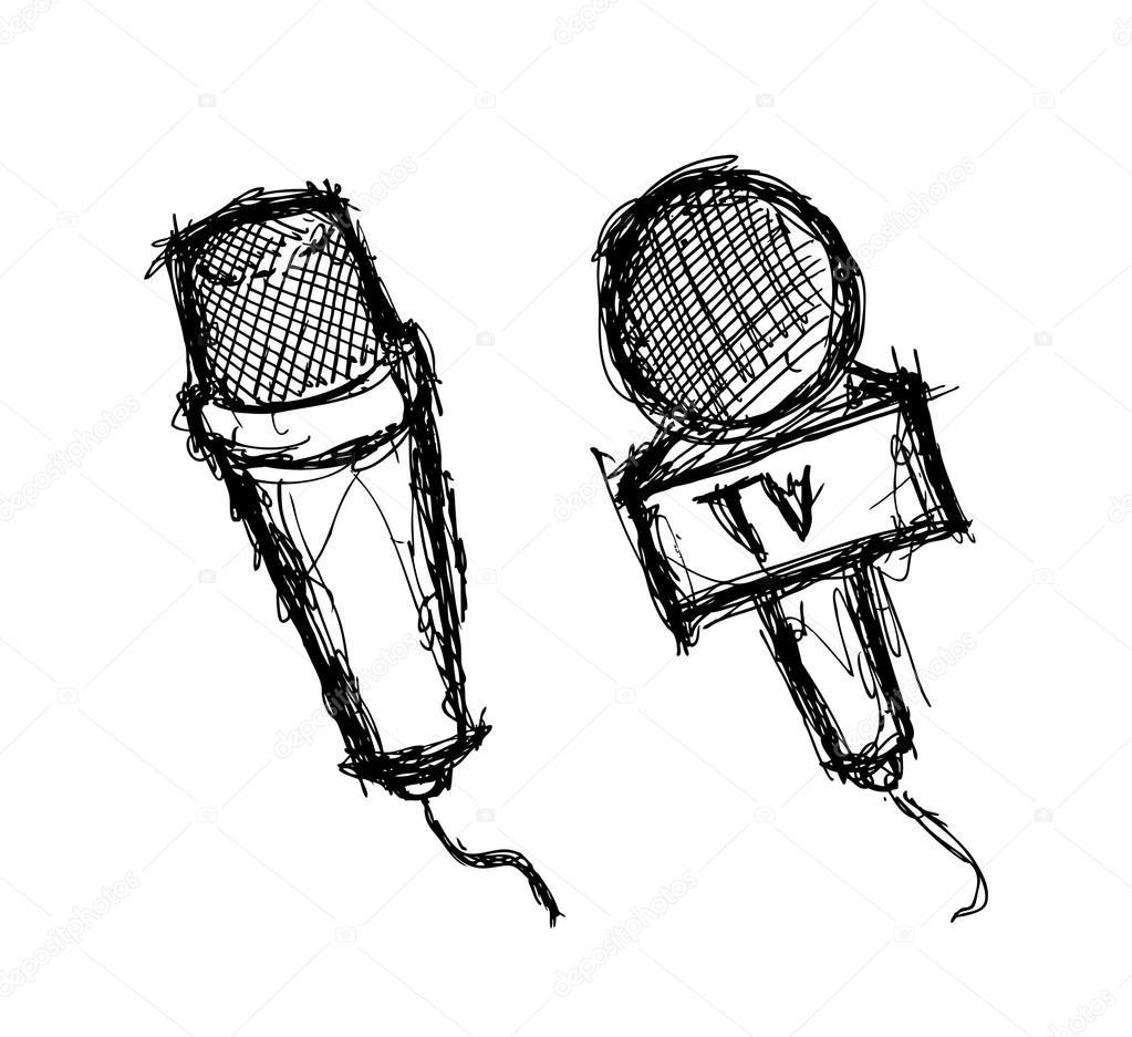 1023x937 Set Of Grunge Microphone Stock Vector Mhatzapa