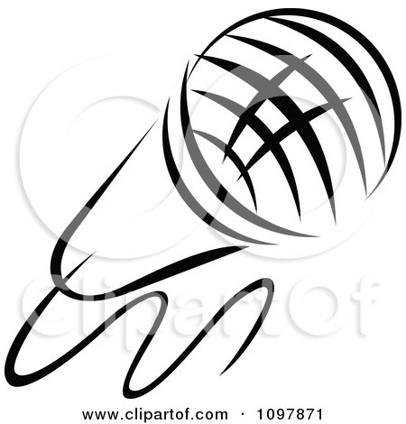 450x470 Clipart Black And White Singers Microphone 1